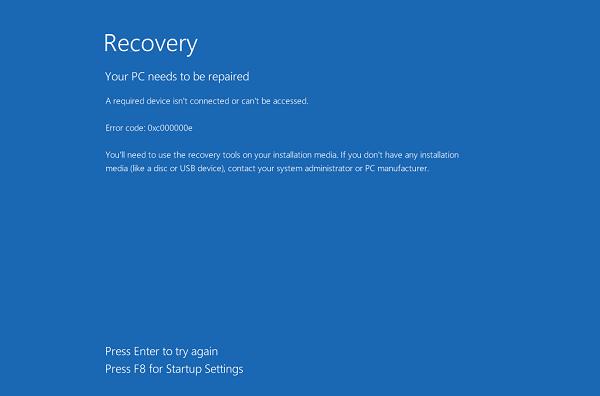 Sửa lỗi 0xc000000e, 0xc000000f trên Windows 10 không cần cài lại win